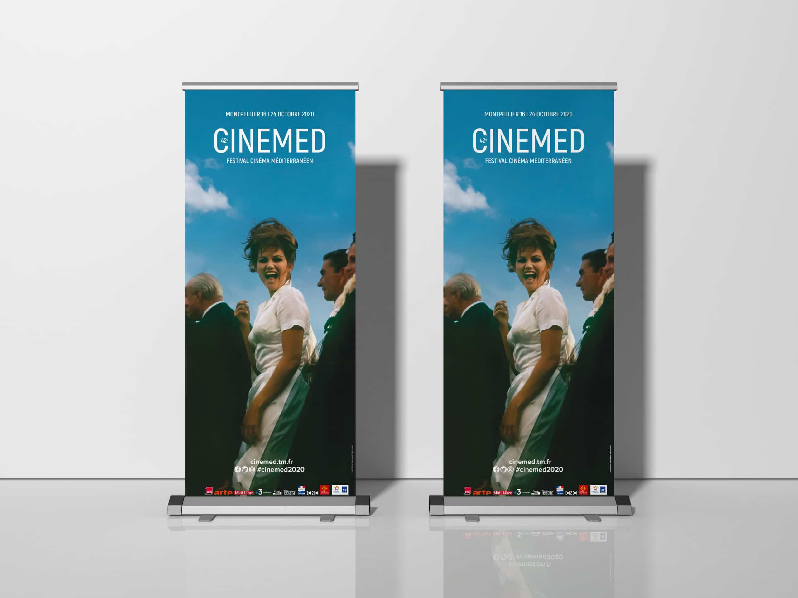 Free Exhibition Stand Roll-Up Banner Mockup